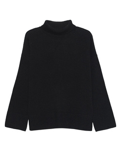 GREY MARL  Turtle Knit Black
