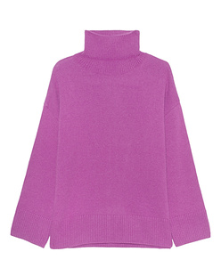 GREY MARL  Turtle Knit Pink