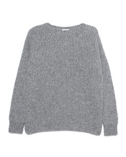 GREY MARL  Knitted Crew Grey