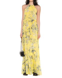 eywasouls Malibu Ayla Flowers One Shoulder Yellow