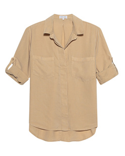 bella dahl Split Button Soft Camel
