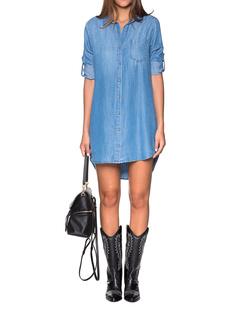 BELLA DAHL Pocket Shirt Dress Blue