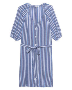 BELLA DAHL Stripes Dress Blue White