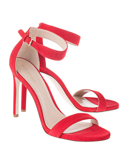 STUART WEITZMAN Backupitz Suede Red