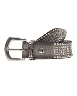 B.Belt Leather Stud Light Grey