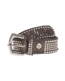B.Belt Leather Stud Taupe