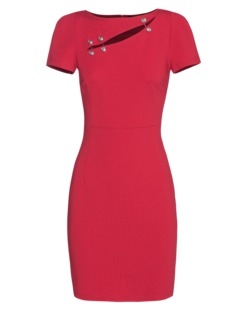 VERSUS VERSACE by ANTHONY VACCARELLO Mini Shift Red