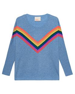 Absolut Cashmere Rainbow Stripes Cashmere Blue