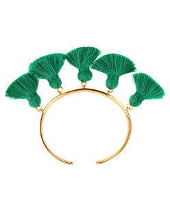 Marte Frisnes Raquel Tassel Bangle Green