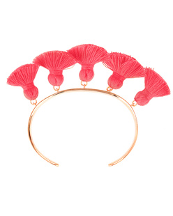Marte Frisnes Raquel Tassel Bangle Hot Pink