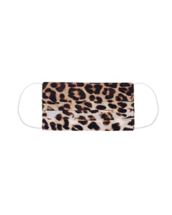 JADICTED Face Mask Silk Brown Leopard