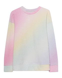 The Elder Statesman Felted Sweatshirt Rainbow Gradient