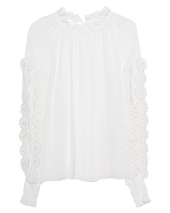 SEE BY CHLOÉ Flower Ruffle White