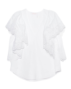 SEE BY CHLOÉ V Neck Crochet White