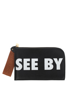 SEE BY CHLOÉ Joris Logo Print Black