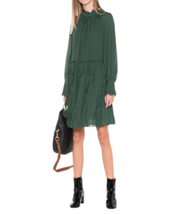 SEE BY CHLOÉ Cutout Flower Green