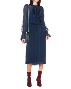 SEE BY CHLOÉ Ruffle Flower Navy Blue