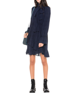 SEE BY CHLOÉ Ruffle Bow Evening Navy