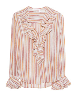 SEE BY CHLOÉ Volant Stripes Multicolor