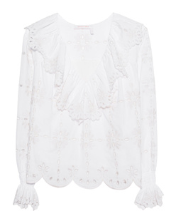 SEE BY CHLOÉ Cut Out Embroidery White
