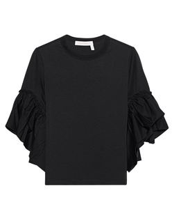SEE BY CHLOÉ Trumpet Sleeves Cotton Black