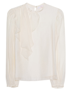SEE BY CHLOÉ Shiny Ruffle Off-White