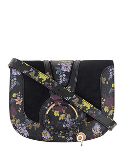 SEE BY CHLOÉ Flowers Leather Mix Black
