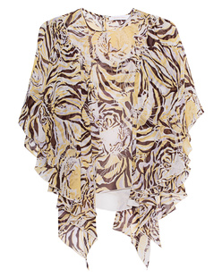 SEE BY CHLOÉ Tiger Head Flounces Silk Multicolor