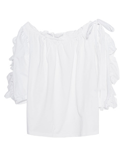 SEE BY CHLOÉ Ruffle Bow White
