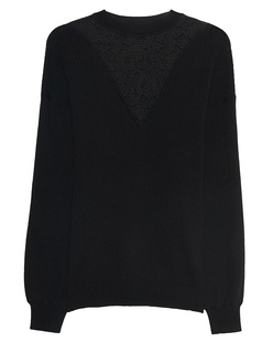 SEE BY CHLOÉ Wool Lace Knit Black