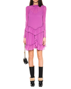 SEE BY CHLOÉ Ruffles Dress Purple