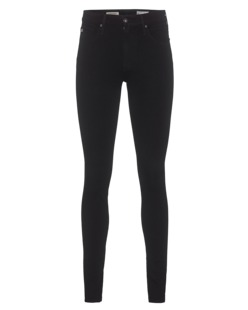 AG Jeans The Farrah Skinny High-Rise Black