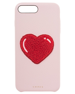 CHAOS iPhone 7/8 Plus Heart Chenille Pink