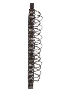 Deepa Gurnani Hand Cuff Chain Rhinestone