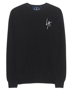 LOCAL AUTHORITY L.A. Slash Crew Neck Washed Black