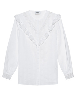 Dondup Lace Ruffle Cotton White