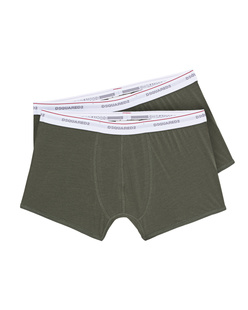 D-Squared Underwear Twinpack Trunk Olive