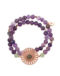 HOFFNUNGSTRÄGER Bracelet Mandala Purple Rose