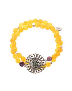 HOFFNUNGSTRÄGER Bracelet Mandala Yellow