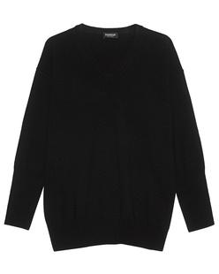Dondup Oversize V Neck Wool Black