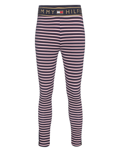 HILFIGER COLLECTION Striped Leggings Navy