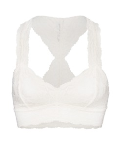 FREE PEOPLE Galloon Lace Racerback Ivory