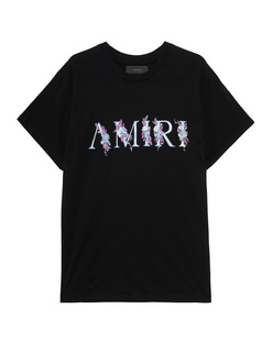Amiri Floral Logo Tee Black