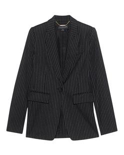Rachel Zoe Collection Blazer Stripes Black White