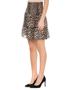 Ganni Mullin Georgette Leopard Beige