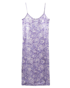 Ganni Slip Dress Satin Tulip Violet