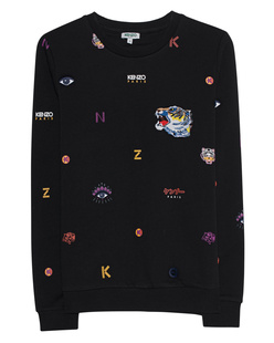 KENZO Allover Multi Icons Black