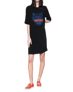 KENZO Front Tiger Embroidery Black
