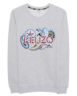 KENZO Flower Label Embroidery Grey