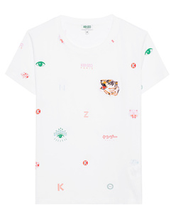 KENZO Classic Label All Over White